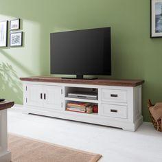TV-Lowboard Gomera - Akazie teilmassiv   Home24