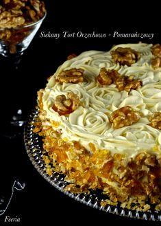 tort orzechowo pomarańczowy
