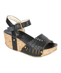 Another great find on #zulily! Black Lalasa Wedge by Bamboo #zulilyfinds