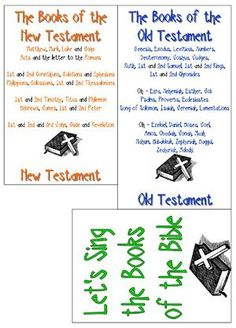 sing the books of the Bible-also link to hear song of NT and OT books (the way I heard it as a child! Sunday School Songs, Sunday School Activities, Bible Study For Kids, Bible Lessons For Kids, Kids Bible, Bible Resources, Bible Activities, Bible Songs, Children's Bible