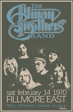 The Allman Brothers Band, Fillmore East, February 14, 1970