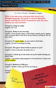 Momglish: My new language. #moms #humor #parenting