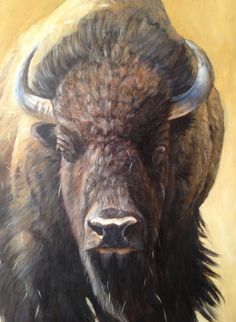 If you fancy a challenging subject be sure to try this Bison by Ben Waddams coming soon to ArtTutor Buffalo Animal, Buffalo Art, Native Indian, Native Art, Buffalo Pictures, Oil Painting Lessons, Art Tutorials, Painting Tutorials, Animals Of The World