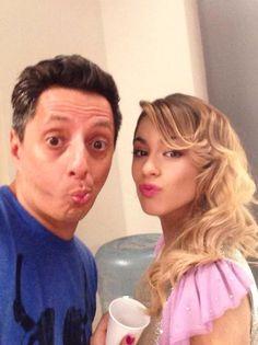 Foto @TiniStoessel Junto @ImSergioMejia, en el Backstage de un Videoclip de #Violetta3.