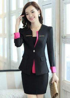 Mujeres chaqueta formal , trajes, Juegos de falda formal, Para ...