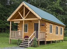 Low-Cost Kits for a Log Cabin Small Log Cabin KitsSmall Log Cabin Kits Small House Kits, Small Log Cabin Kits, Diy Log Cabin, Log Home Kits, Tiny Cabins, Tiny House Cabin, Log Cabin Homes, Cabins And Cottages, Log Cabins