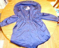 Rothchild Long Dress Coat Blue w/Pink Flower Contrasting Trim Sz 10 Ex Condit #Rothchild #LongDressCoat #Dressy