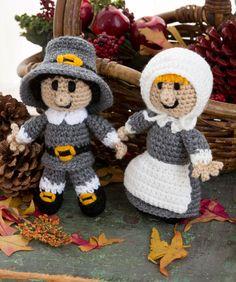 Happy Thanksgiving everyone! Crochet Pilgrim Pair-free pattern