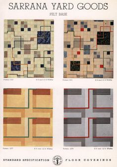 Carthage Flooring (linoluem), 1939. From the Association for Preservation Technology (APT) - Building Technology Heritage Library, an online archive of period architectural trade catalogs. Select an era or material era and become an architectural time traveler.