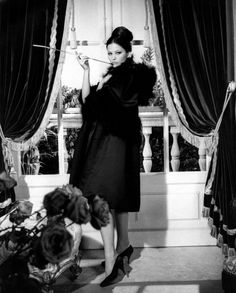 1963 - Claudia Cardinale in Yves Saint Laurent costume for 'the pink panther'