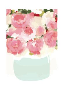 'Peonies in Vase', on Minted.com