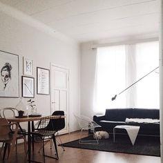 Chairs, art, light