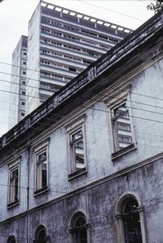 Manaus, Wandel, Hochhaus/Altbau,  Dia_298-06687 Manaus, Rio De Janeiro