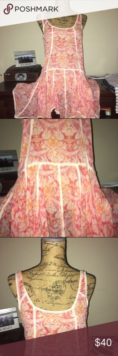 Free people dress Small see through dress- so cute #freepeople #boho #hip Super cute- cleaning out closet sale- try me- you never know what I'll accept!! Will ship tomorrow! Free People Dresses Mini