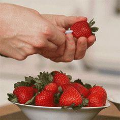 The Best Way to Prep Strawberries. Via F&W (www.foodandwine.com).