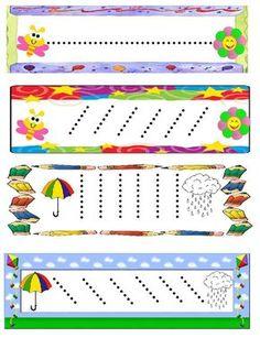 Grafomotricidad. Trazos para repasar Preschool Writing, Preschool Classroom, Preschool Worksheets, Preschool Activities, Nursery Activities, Motor Activities, Handwriting Activities, Pre Writing, Kids Education