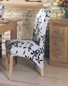 buy baumhaus mobel oak upholstered dining chair pair online cfs uk