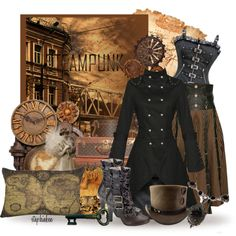 """""""FWF: Steampunk Victorian Clock"""" by stephiebees on Polyvore"""