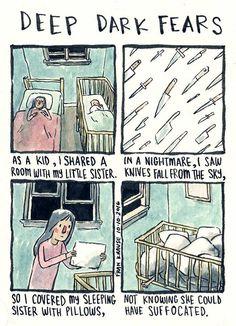 Artist Turns People's Darkest Fears Into Comics (New Pics)