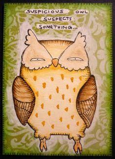 Suspicious owl suspects something