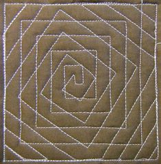 The Free Motion Quilting Project: Day 204 - Spiral Illusion