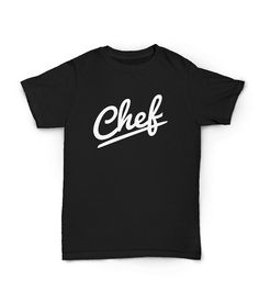 Check out Black Chef T-shirt - all Cotton - Chef apparel - all sizes on oneuniformstore