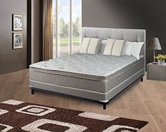 Continental Sleep Mattress, 10″ Pillowtop Eurotop , Fully Assembled Orthopedic Queen Mattress and 5-Inch Box Spring,Body Rest Collection |