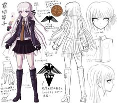 danganronpa junko enoshima different personalities Danganronpa Junko, Super Danganronpa, Character Concept, Character Art, Concept Art, Character Outfits, Rpg Maker, Danganronpa Characters, Anime Characters