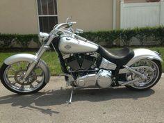 2008 Harley-Davidson FXCW ROCKER SOFTAIL Cruiser , Silver, 4,576 miles for sale in Orlando, FL