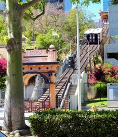 L.A's Angels Flight only takes you 300 feet but it's such a fun piece of LA history and totally worth the trip.  http://angelsflight.com/