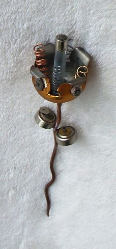 Steampunk Wedding Boutonniere.