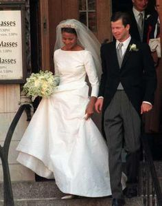 HSH Prince Maximilian and HSH Princess Angela von und zu Liechtenstein. Married on January 29, 2000 at the St. Vincent Ferrer Church in New York City. http://everythingiric.blogspot.com/2011/04/interracial-royal-wedding-prince.html