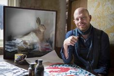 Mark Hearld, photographed by Jonty Wilde, for the artist's 'Birds & Beasts' exhibition at the Yorkshire Sculpture Park. Natural History, Natural World, Yorkshire Sculpture Park, Glasgow School Of Art, Royal College Of Art, David Jones, Animal Paintings, Art Museum, Beast