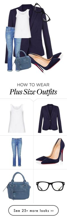 Blazer marinho, camiseta básica branca, jeans lavado e scarpin azul.marinho