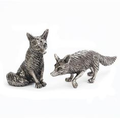 Pewter Fox Salt and Pepper Shakers