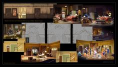My Set Design for Clybourn Park and Raisin in the Sun in rep at Dallas Theater Center Prop Design, Stage Design, Set Design, Design Ideas, Dallas Theater, Scenic Design, Raisin, My Images, Scenery