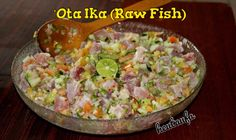 'Ota Ika (Raw Fish) - Tongan Food
