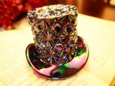 Mad Hatter Olde Virginia Glass Fenton by BerkanaNvrldCreation, $25.00