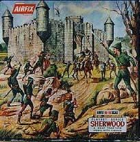 Castle, and figures set. Vintage Toys 1970s, Airfix Models, Airfix Kits, Childhood Toys, Toy Soldiers, Ho Scale, Sound & Vision, Box Art, Diorama