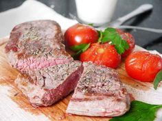 Rezept: Steak mit Tomaten und Dip
