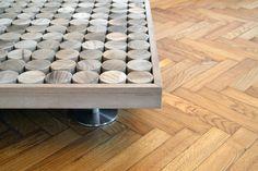 Particolare piede in #acciaio #sofia #collection  #table #tavolo #tavolino #wood #teak #living #livingroom #furniture #mg12