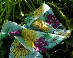 Silk Scarf,Bold Watercolor Flo