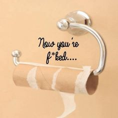 Free Shipping Funny Bathroom Wall Stickers Toilet Quote Seat Decal Art Vinyl Bathroom Sticker For