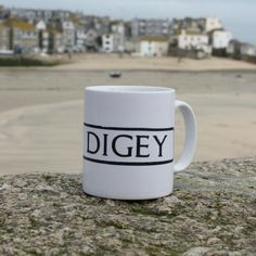 The Digey St Ives Street Sign Mug - sip your morning brew & dream of waking up on holiday in St Ives Cornwall. Where on earth does the name The Digey come from? St Ives Cornwall, Shopping Street, Coffee Signs, Old Building, Street Signs, The Conjuring, Best Coffee, Main Street, Stuff To Do