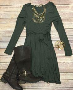Wrap Dress: Olive