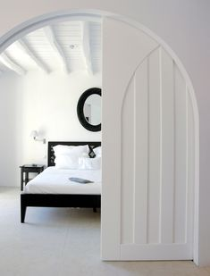 beautiful arched pocket door