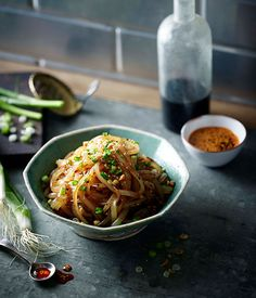 Green Bean Noodles with Chilli Oil and Sichuan Pepper Recipe (Ma La Liang Fen)   Gourmet Traveller