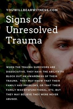 the trauma survivors are dissociative, they have the ability to block out an awareness of their trauma. They may know that their family had problems, or that their family was dysfunctional, etc, but they may believe they were never abused. Health Psychology, Psychology Quotes, Applied Psychology, Abnormal Psychology, Color Psychology, Trauma Therapy, Therapy Tools, Music Therapy, Behance