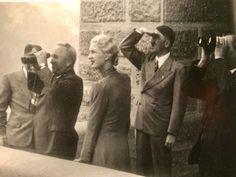 Interesting body language between Hitler and Inge Ley during a visit to Kehlsteinhaus.