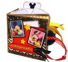 Disney Autograph Book - Disney Vacation Paper Bag Scrapbook - Mickey and Minnie Scrapbook - Paper Bag Album Book Disney Vacation, Disney Cruise, Disney Vacations, Disney Trips, Mini Albums Scrapbook, Paper Bag Scrapbook, Disney Scrapbook, Scrapbook Layouts, Autograph Book Disney
